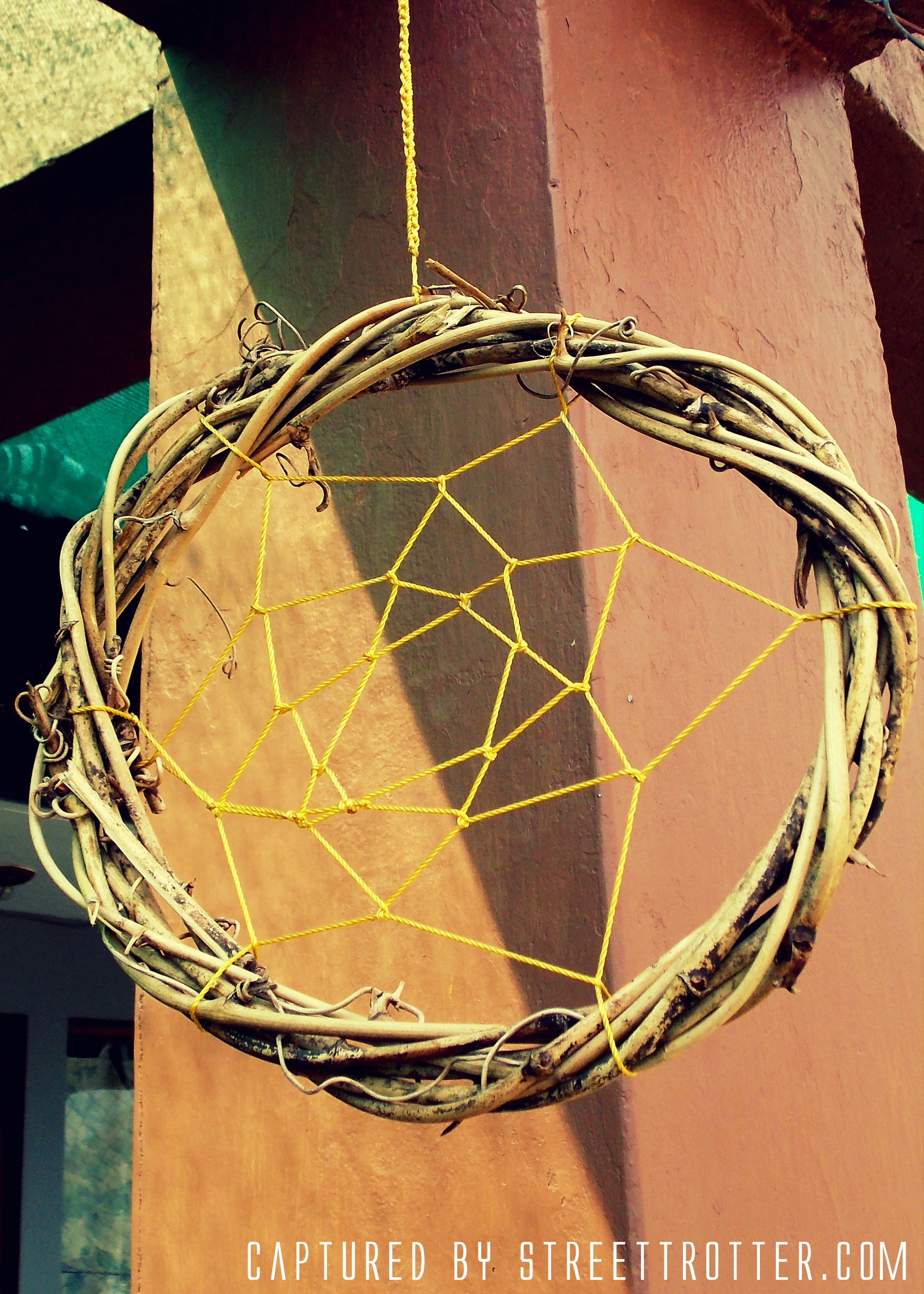 The oldest tribal dream catcher, made with bending branches of trees...