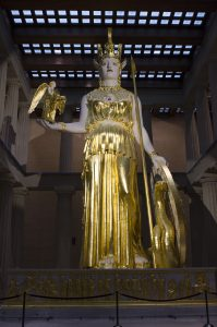 Statue of Athena in the Nashville Parthenon. (Photo by: Nikita Sampath)