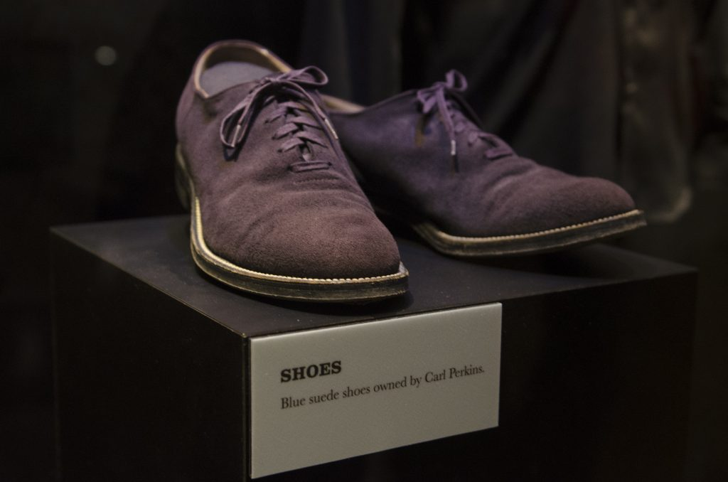 Blue Suede Shoes at the Country Music Hall of Fame. (Photo by: Nikita Sampath)