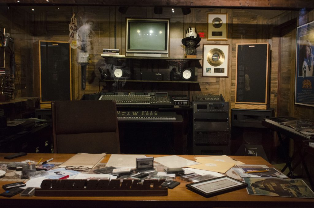 Owen Bradley's office recreated at the Country Music Hall of Fame. (Photo by: Nikita Sampath)