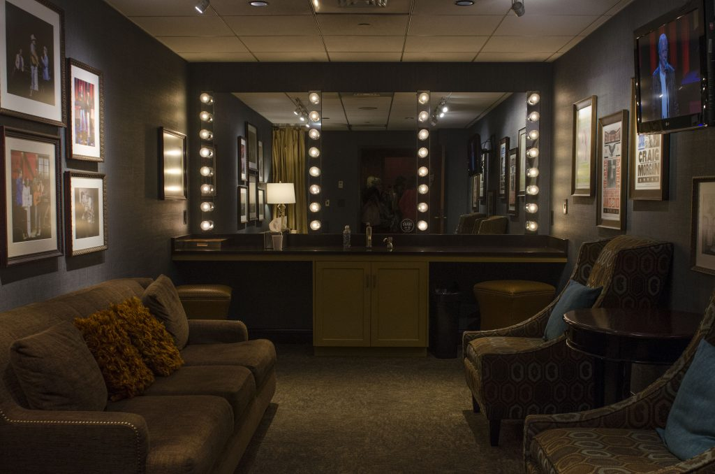 A dressing room backstage of the Grand Ole Opry House. (Photo by: Nikita Sampath)