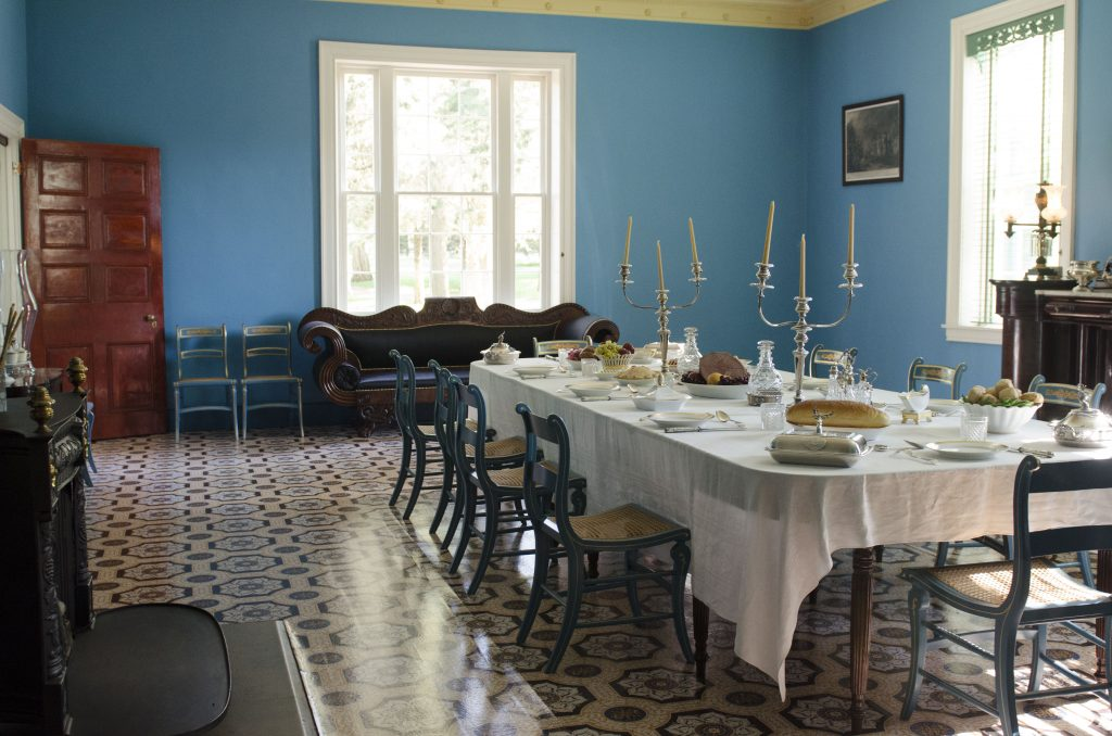 The dining room of the Jackson residence. (Photo by: Nikita Sampath)