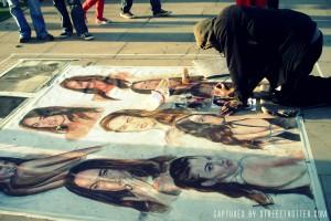 street painting - busking - street trotter