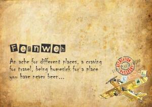 fernweh - travel words - travel vocabulary